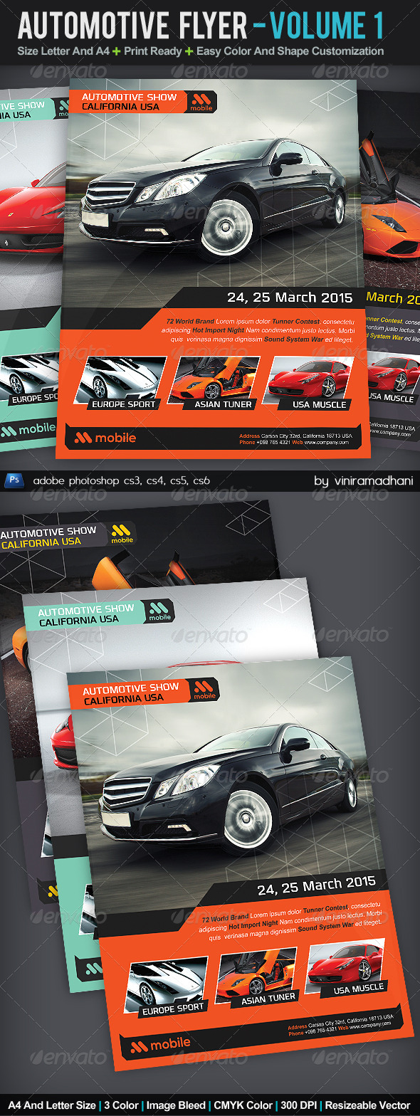 GraphicRiver Automotive Flyer Volume 1 5546676