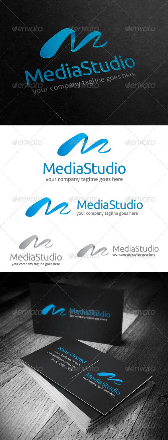 Media Studio Letter M Logo - Letters Logo Templates