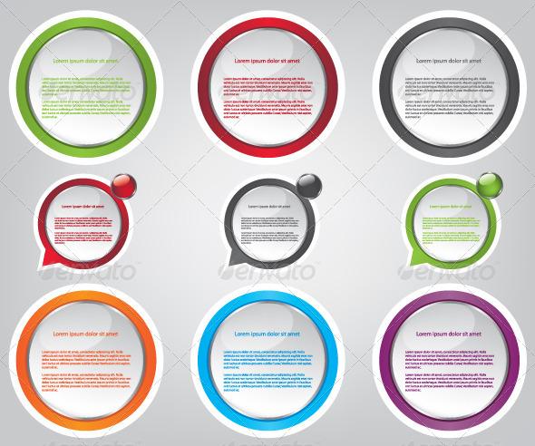 GraphicRiver Web Bubble Icons Illustration 5546989