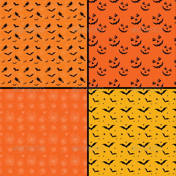 Seamless tile Halloween backgrounds