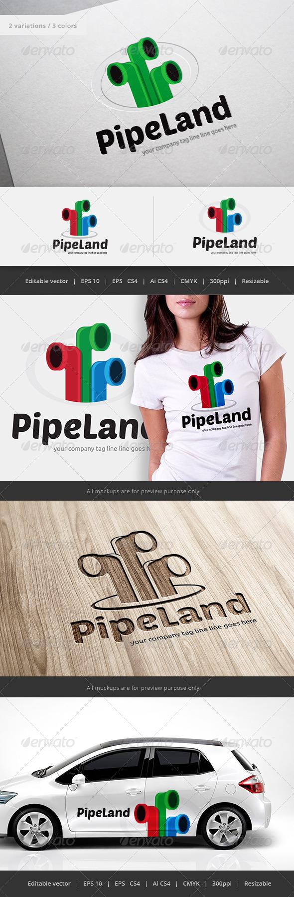 GraphicRiver Pipe Land Logo 5547192