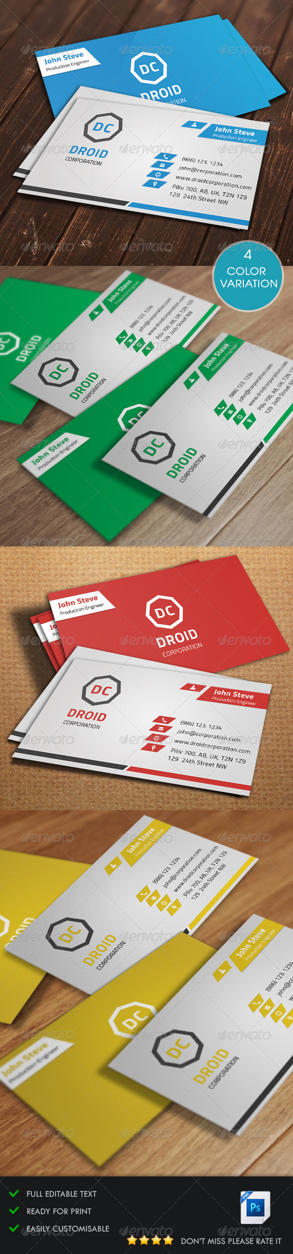 GraphicRiver Modern Corporate Business Card v7 5547193