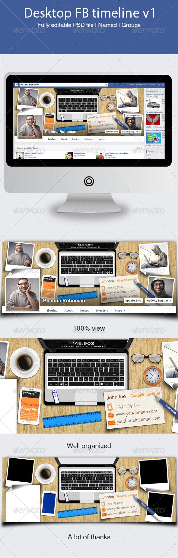 GraphicRiver Desktop FB Timeline v1 5547220