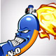 Angry Nitrous Oxide Canister with Flames - GraphicRiver Item for Sale