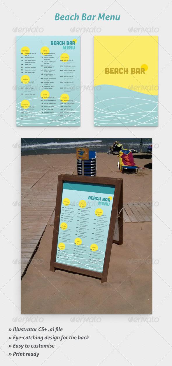 GraphicRiver Beach Bar Menu 5547453