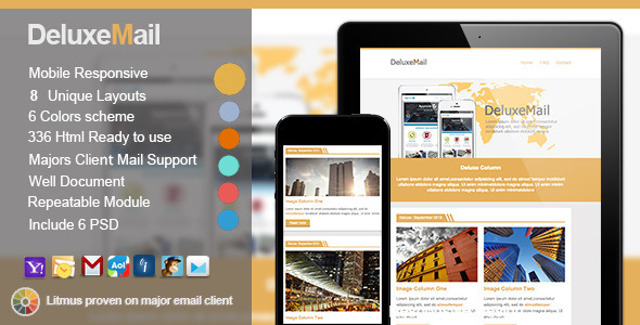 ThemeForest Deluxe Responsive E-mail Templates 5547484