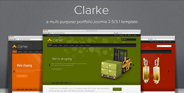 Clarke - Multi-Purpose Responsive Joomla Template - Screenshot 01 - Clarke Responsive Joomla Theme