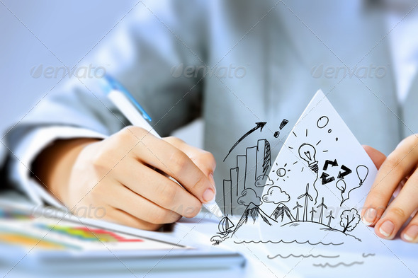 Business person at work - Stock Photo - Images
