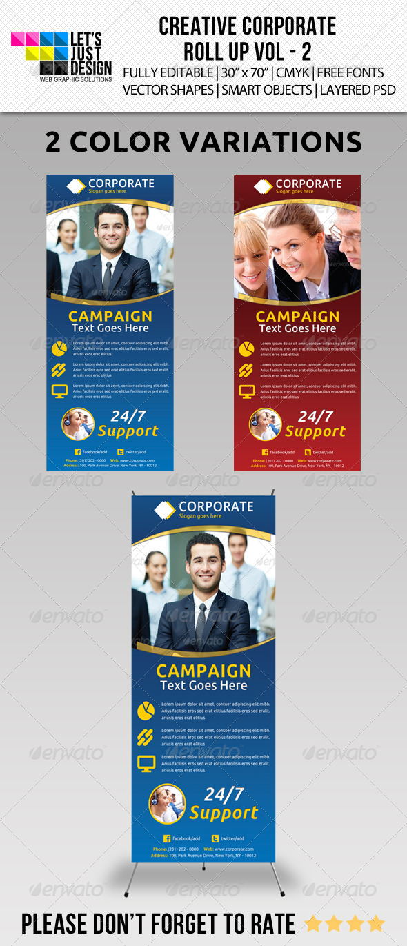 Corporate Roll-up Banner Vol 2 - Signage Print Templates