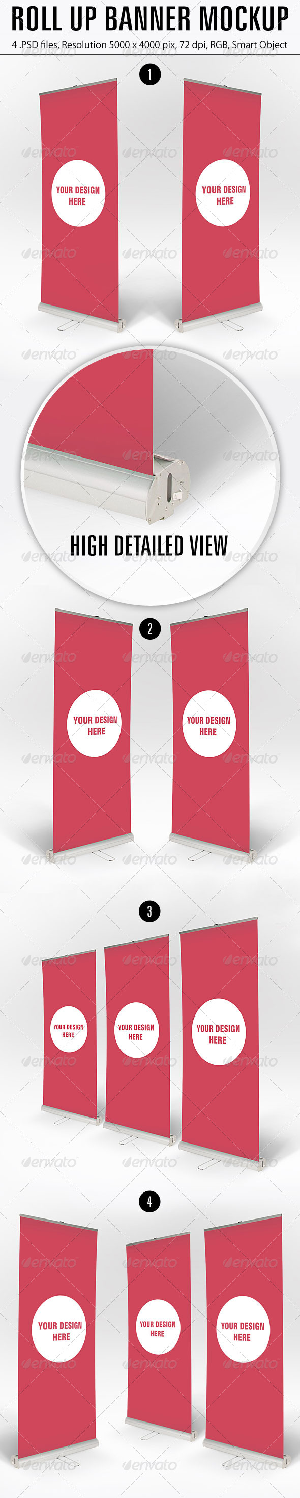 GraphicRiver Roll Up Banner Mockup 5547759