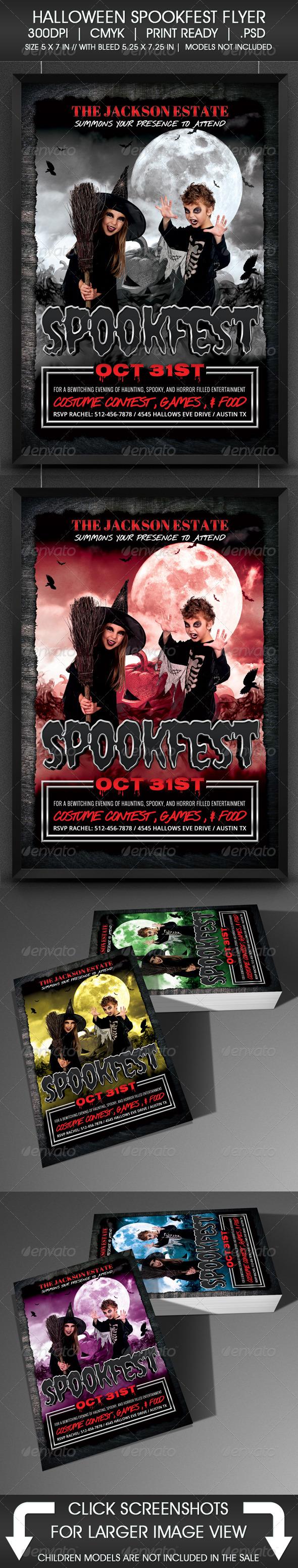 GraphicRiver Halloween Spookfest Flyer 5526019
