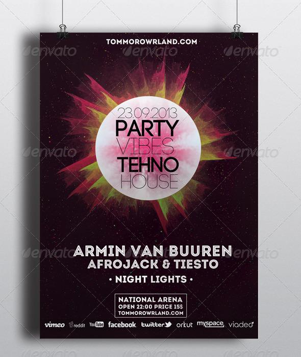 GraphicRiver Tehno Party Flyer 5548590