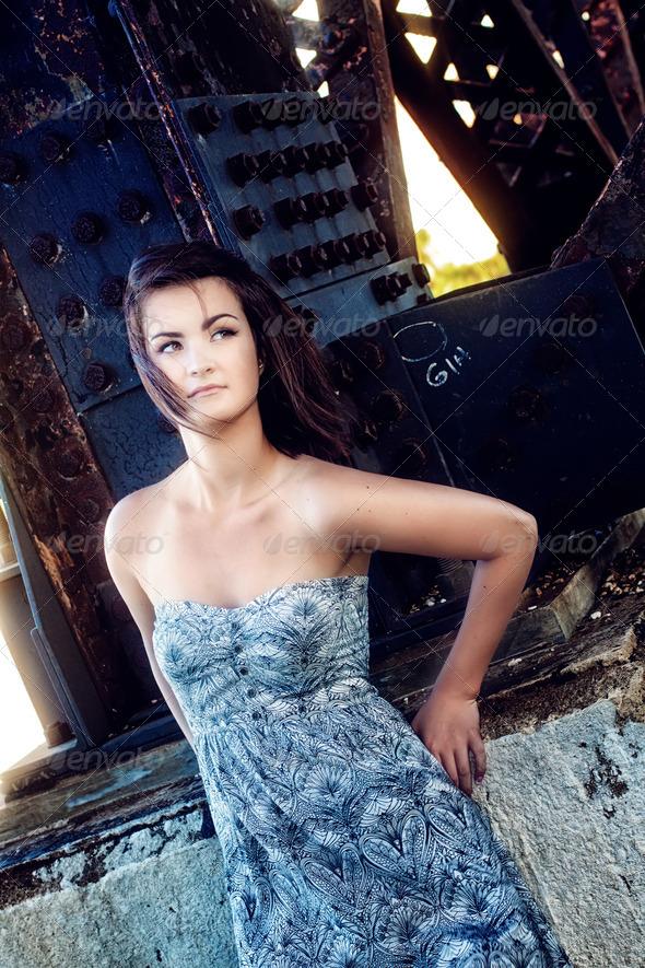 Beautiful brunette - Stock Photo - Images