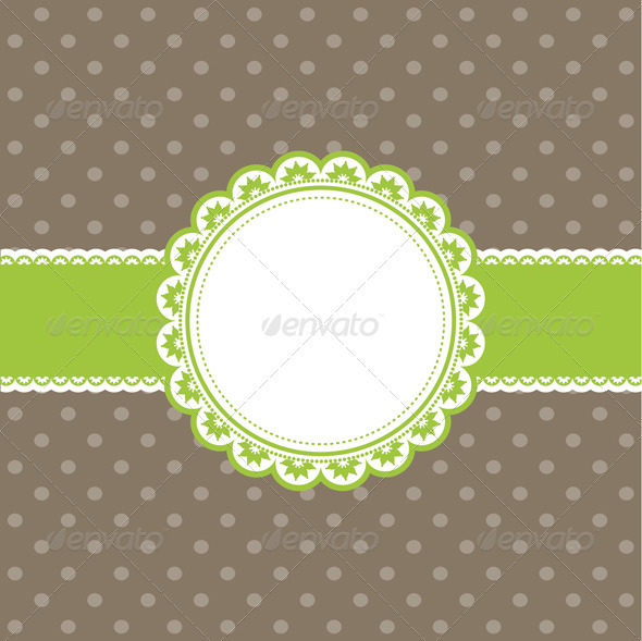 GraphicRiver Cute polka dot background 570962