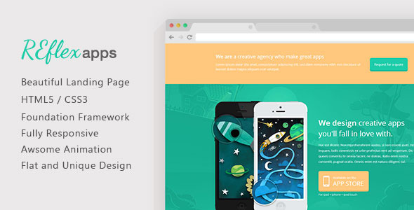 ReflexApps - Responsive landing Page Template