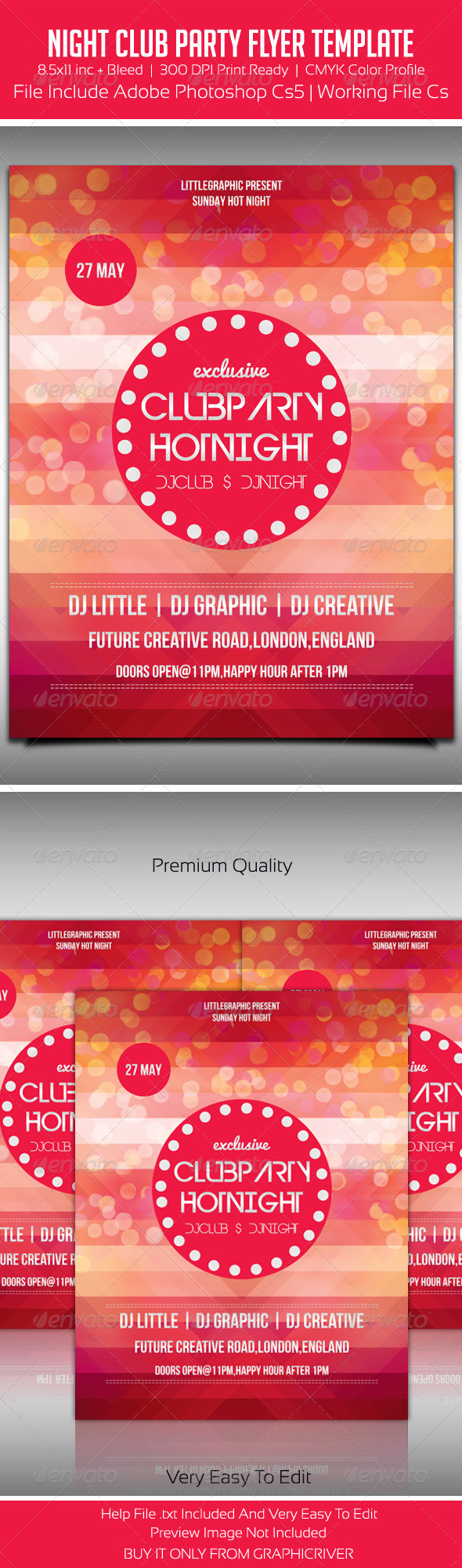 GraphicRiver Party Flyer Template 5548770