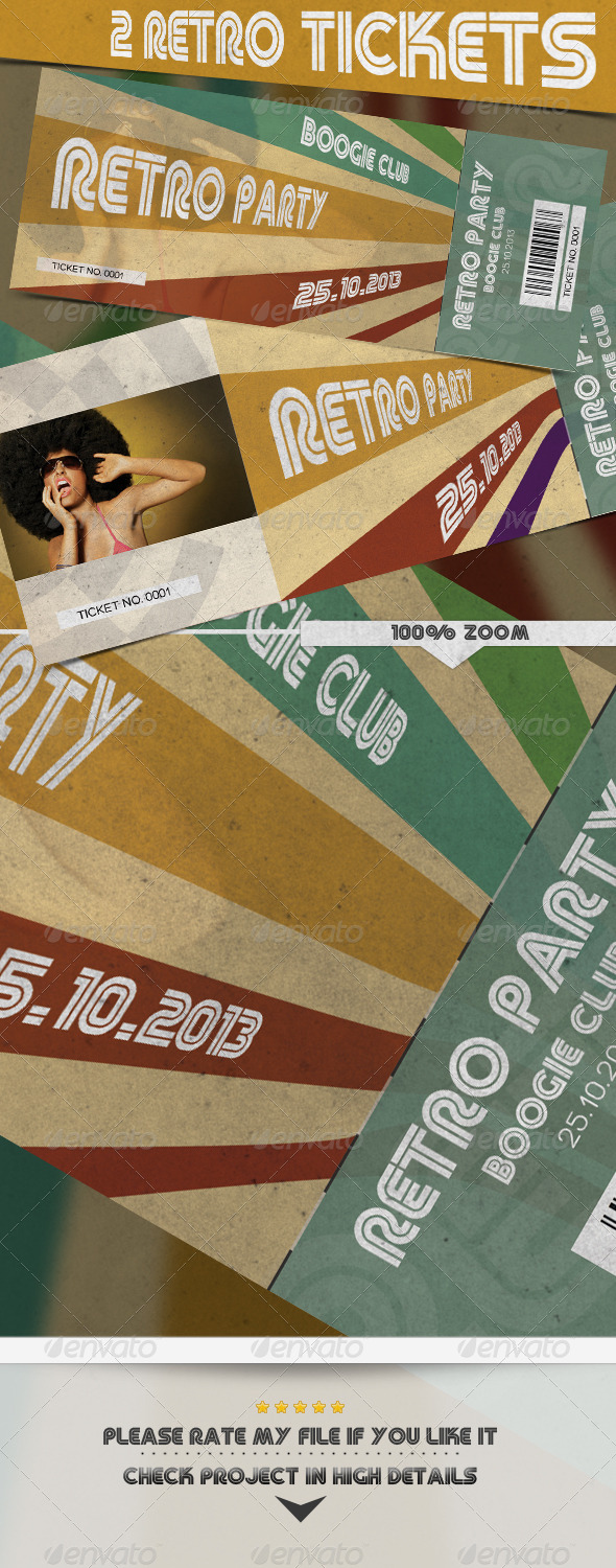 Retro Tickets - Miscellaneous Print Templates