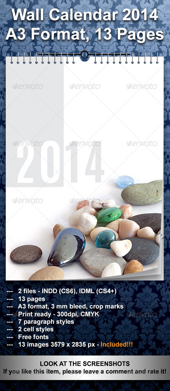 GraphicRiver Calendar 2014 A3 13 Pages 5548889