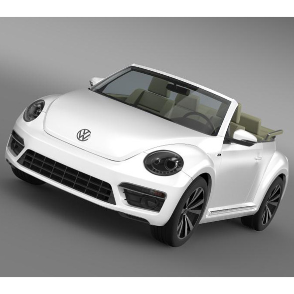 3DOcean VW Beetle RLine Cabrio 2014 5548891