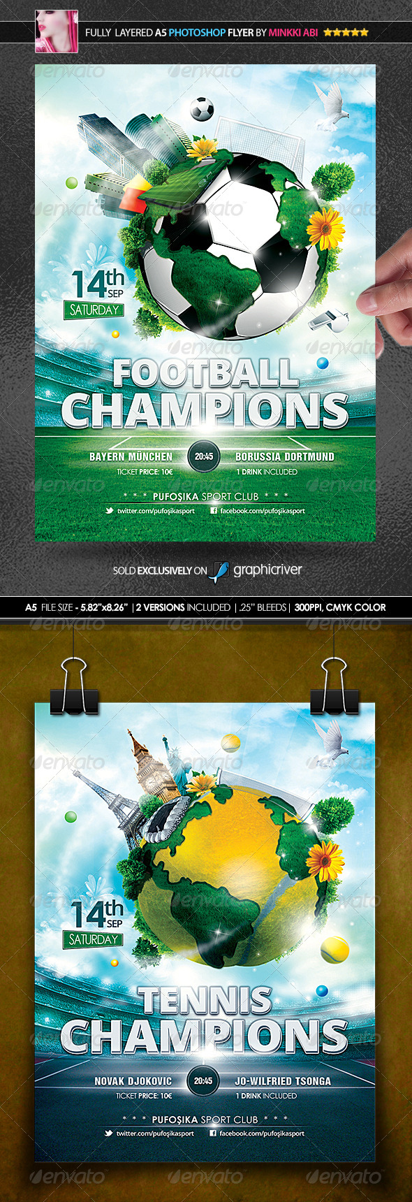 Sports World Vs.1 Poster Flyer