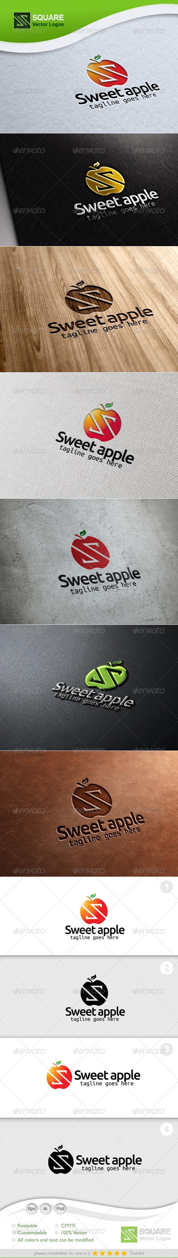 S Letter Apple Vector Logo Template - Letters Logo Templates