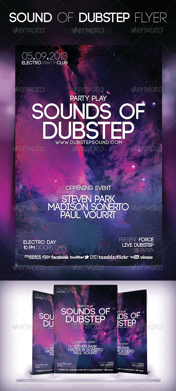 Sound of Dubstep Flyer - Flyers Print Templates
