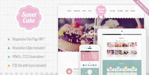 ThemeForest Sweet Cake Responsive WordPress Theme 5514731