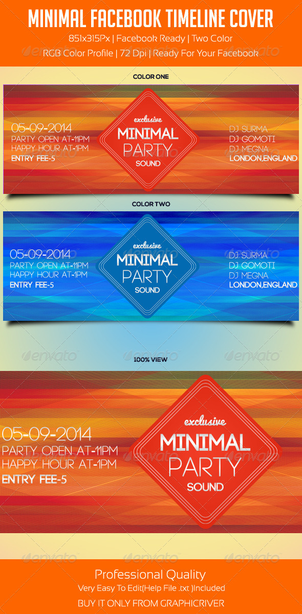 GraphicRiver Minimal Facebook Timeline Cover 2 5549955