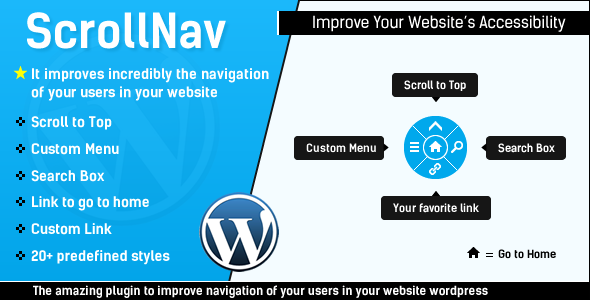 CodeCanyon ScrollNav Scroll to Top Menu & Search for WP 5550144