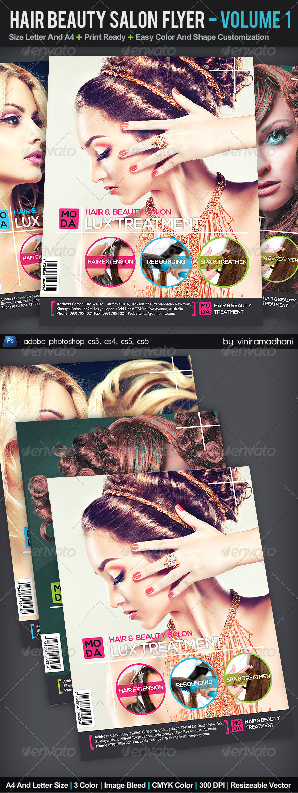 GraphicRiver Hair And Beauty Salon Flyer Volume 1 5550340