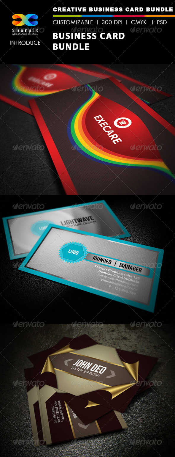GraphicRiver Business Card Bundle 3 in 1-Vol 26 5550605