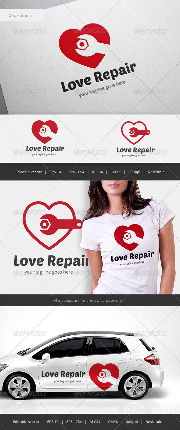 GraphicRiver Love Repair Logo 5550657