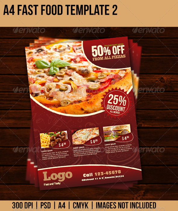 GraphicRiver Fast Food Flyer 2 5222182