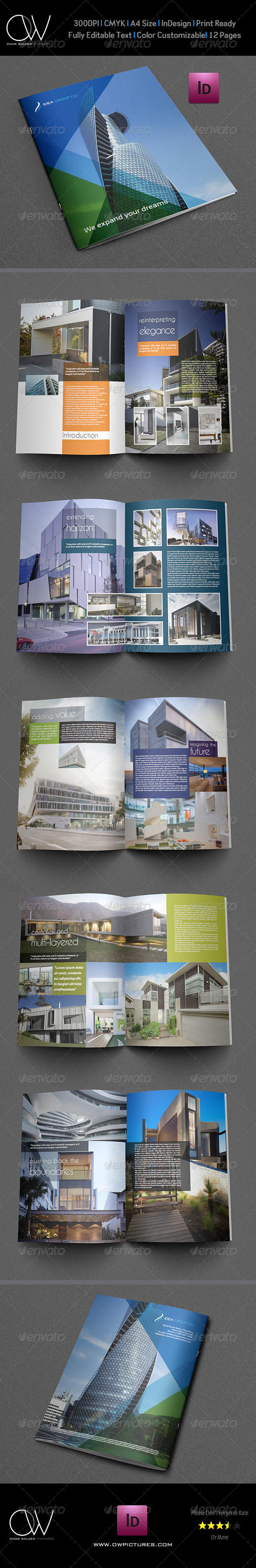 Architectural Brochure Template 12 Pages