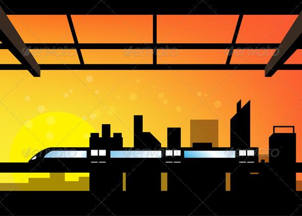 GraphicRiver City Transportation Scene 5551631