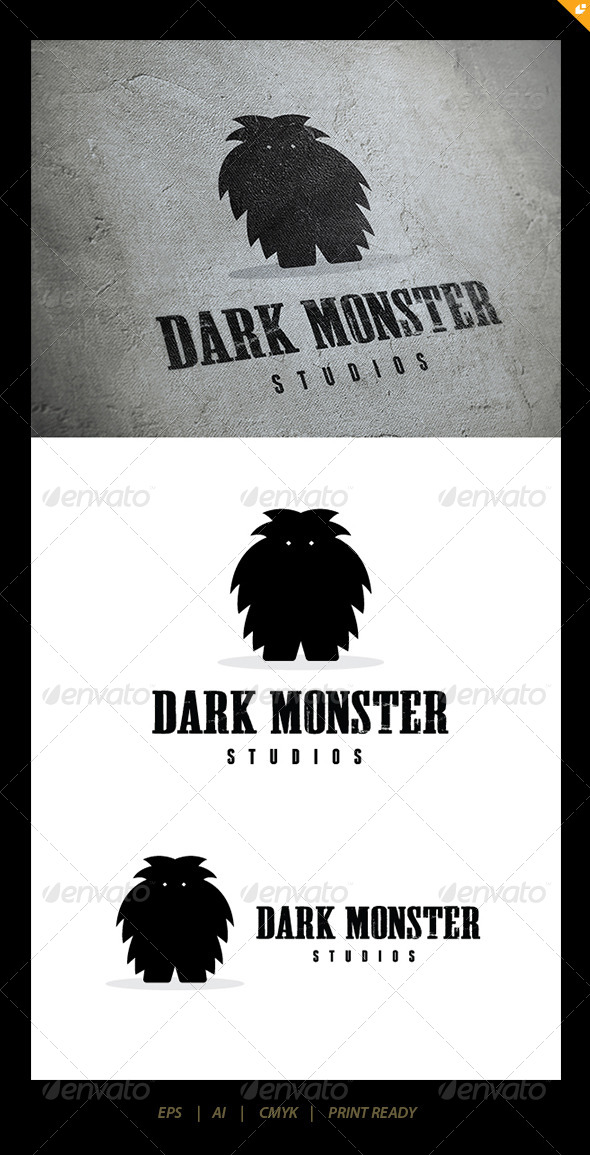Dark Monster Logo - Humans Logo Templates