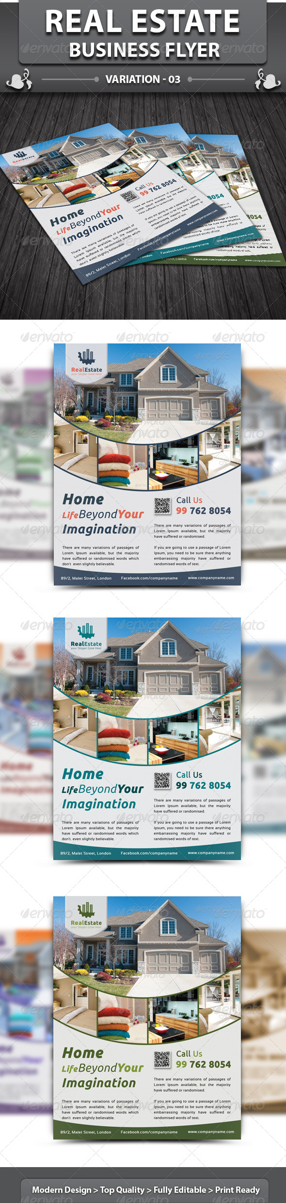 GraphicRiver Real Estate Business Flyer 5551816