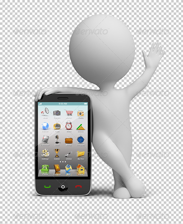GraphicRiver 3D small people smartphone 5553021