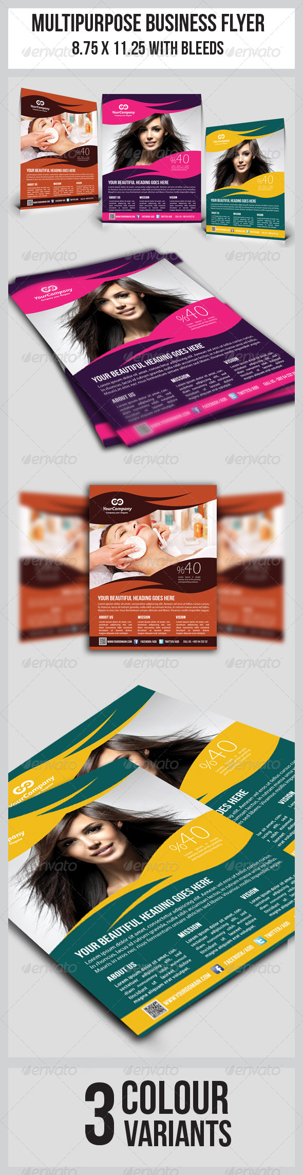 Hair & Beauty Salon Business Flyer - Corporate Flyers