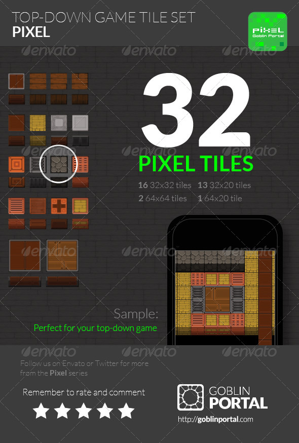 GraphicRiver Top-Down Game Tiles 5553483