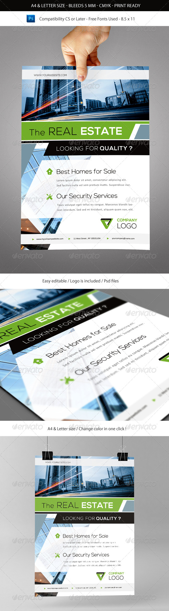 GraphicRiver Corporate & Business Commerce Flyer Template A4 5553647