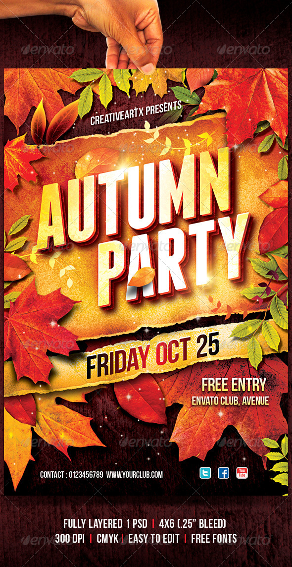 GraphicRiver Autumn Party 5553663