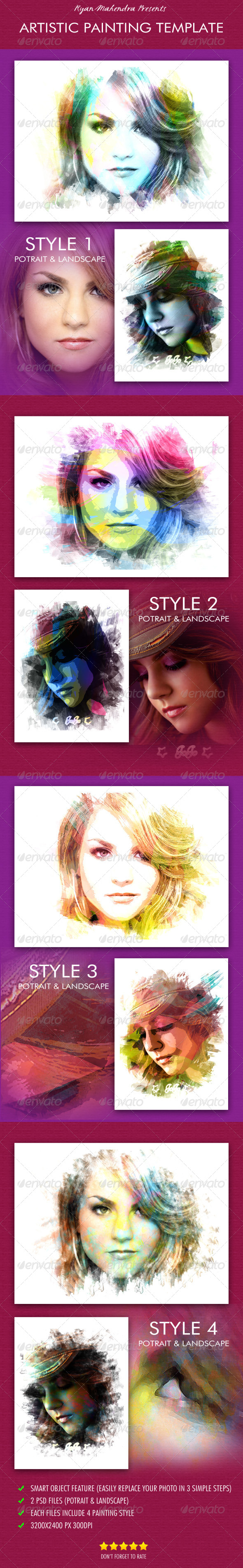 Artistic Painting Template - Artistic Photo Templates