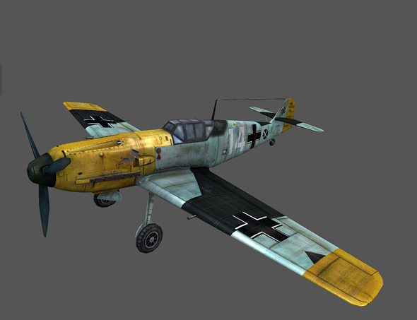 Low poly plane 3D ME-109 - 3DOcean Item for Sale