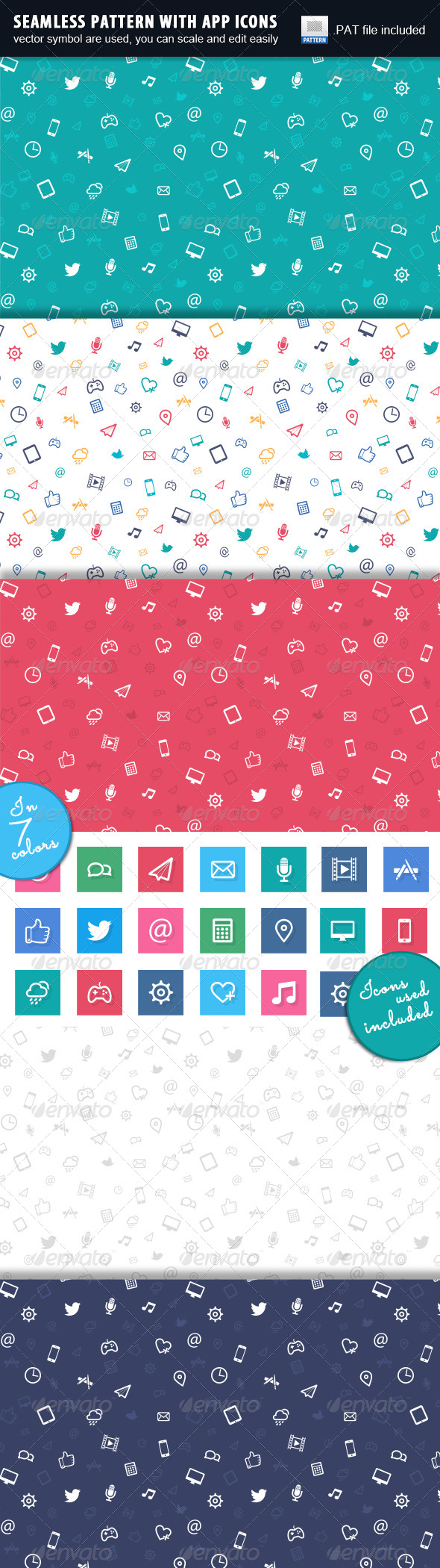 GraphicRiver Apps Pattern 5554368