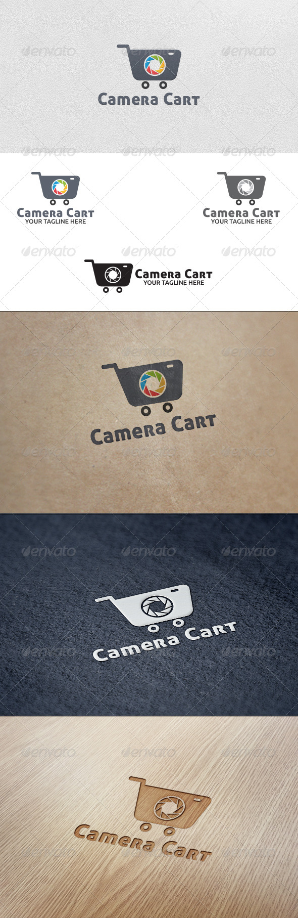 GraphicRiver Camera Cart Logo Template 5528702