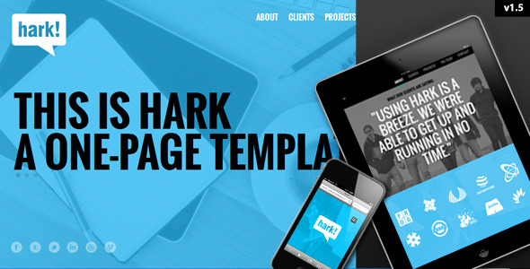 Hark - Responsive One Page Template
