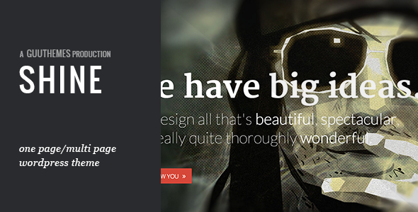 SHINE - Responsive Portfolio WordPress Theme