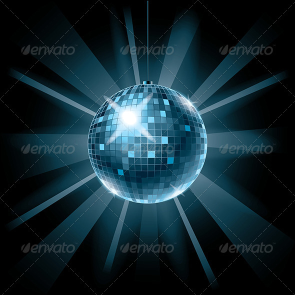 GraphicRiver Disco ball Vector Illustration 5555274
