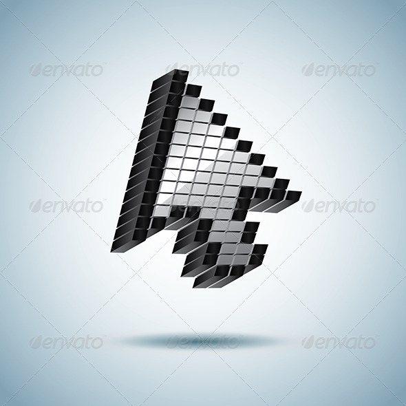 GraphicRiver Mouse Cursor Arrow from Pixels 5555318